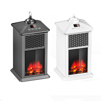 800W Electric Fireplace Heater Mini Portable Warmer for Indoor Heating Household Electric Heater Adjustable Thermostat