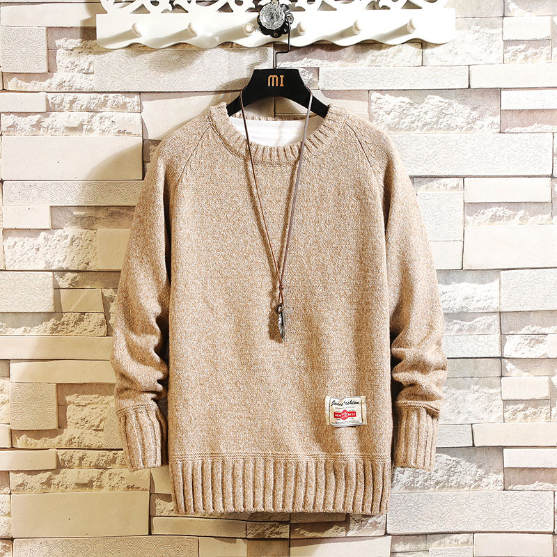 Sweater Male Korean Men 2019 Autumn Winter O-Neck Solid Color Knitted Sweater Fresh Youth Fashion  Multicolor Male Tops Clothes