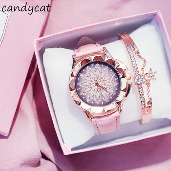 CandyCat Sometimes Running Watch Girls Starry Net Red Celebrity Inspired Korean Style Student Waterp