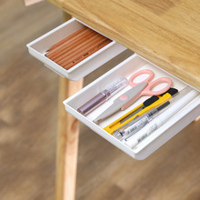 Under Desk Drawer Powerful Desktop Office Storage Box Creative Easy To Use Plastic Drawer Desk Free Punch Stationery Case
