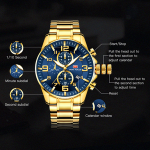 Image 3 - מיני פוקוס אופנה Mens שעונים למעלה מותג יוקרה עמיד למים קוורץ שעון הכרונוגרף ספורט שעון עסקי גברים Relogio Masculino