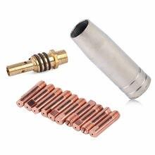 Nozzle Welding Accessories Holder 12pcs/Set MIG/MAG Welding Tips 0.8x25mm