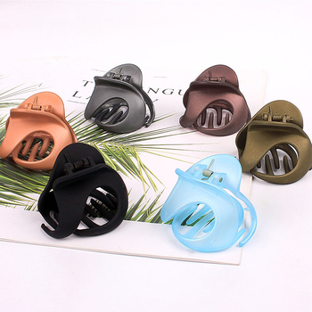 Irregular Frosted Hair Claw Korean Geometric Acrylic Hair Barrettes Candy Color Hair Crab Clamp Hair Clip Hair Accessories image