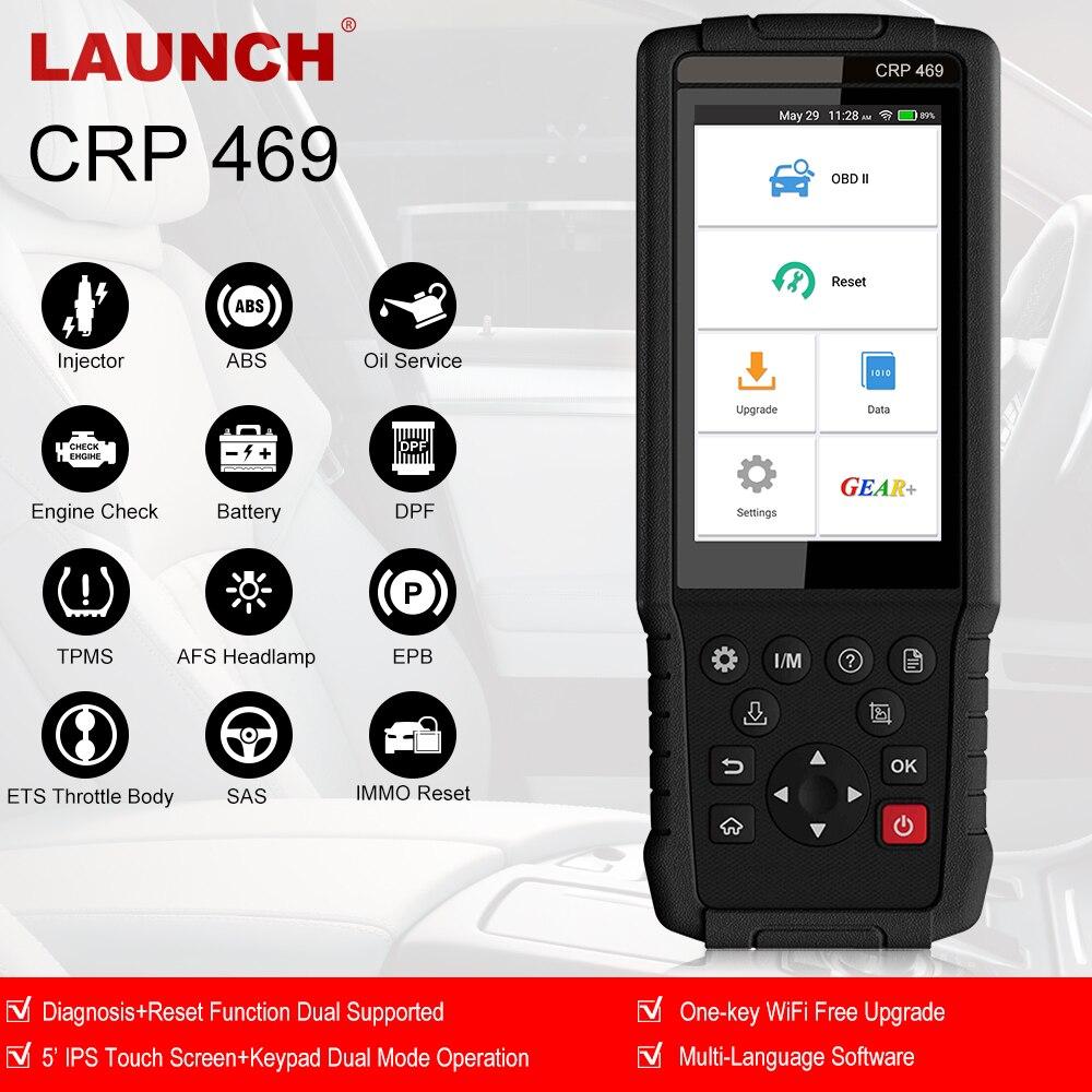 Lançamento obd2 crp469 ferramenta de diagnóstico do carro obd scanner abs sas airbag epb dpf tpms redefinir para bmw benz audi toyota ford muitos carros