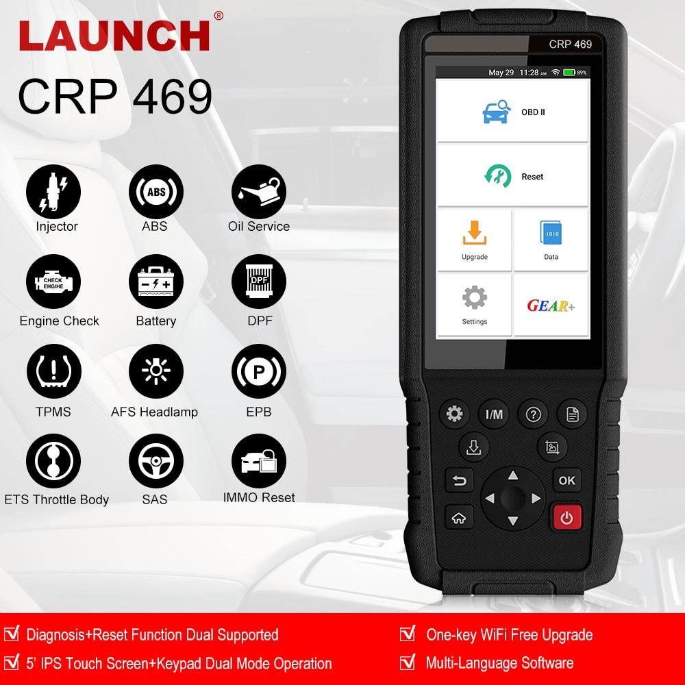 Lancement de l'outil de Diagnostic de voiture OBD2 ABS EPB DPF TPMS réinitialiser le lecteur de Code automatique ODB2 OBDII Scanner automobile avec plusieurs langues