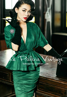 Le Palais Vintage Green Suede Bodycon Pencile Dress Two Piece Set Solid 2 Piece Set Women Long Sleeve Top and Skirt Summer Set