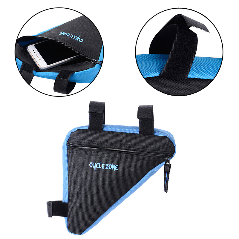 Image 5 - MTB Road bike front frame triangle bag bicycle beam bag bicycle tube bag bracket saddle bracket kit bicycle accessories-in Bicycle Bags & Panniers from Sports & Entertainment