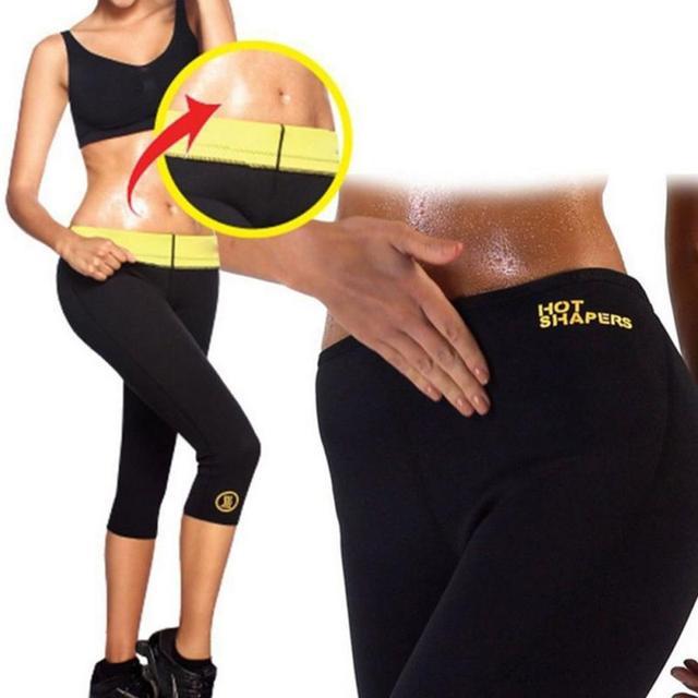 Hot selling yoga pants fitness sauna shaping pants corset belt cropped pants burst sweat pants self-heating weight loss pant NEW 4