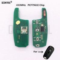Qcontrol placa de circuito eletrônico chave controle remoto do carro para opel astra k  corsa e 433 mhz pcf7961e chip|Chave do carro| |  -