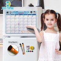 Placa branca flexível da mensagem das crianças da limpeza 30*40cm para notas calendário magnético bonito a3 agenda diária do quadro branco planejador mensal seco