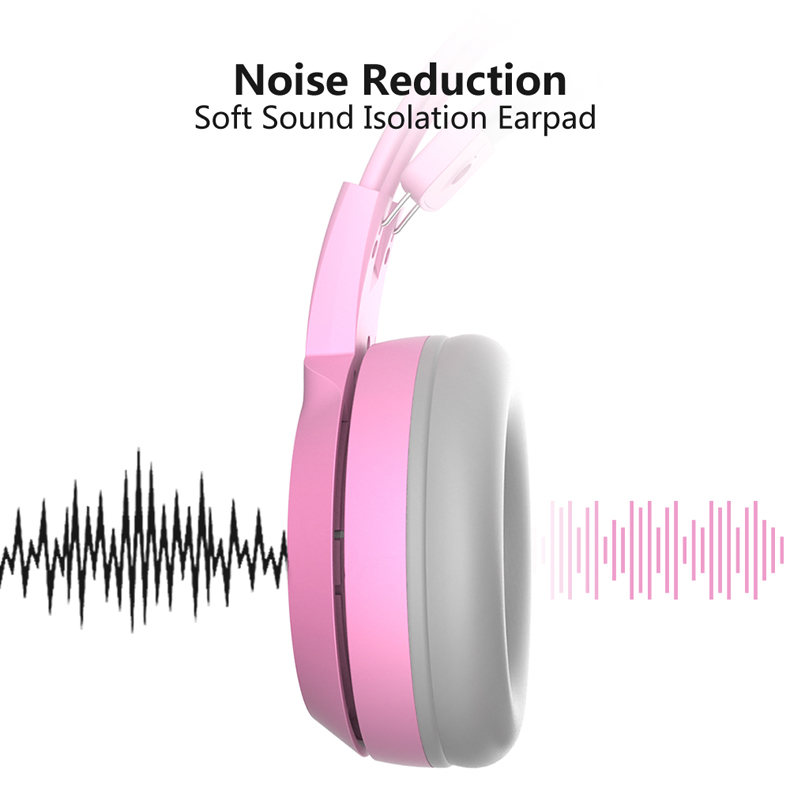 Image 4 - SOMIC G951S Pink Cat Headphones Noise Cancelling Wired Gaming 