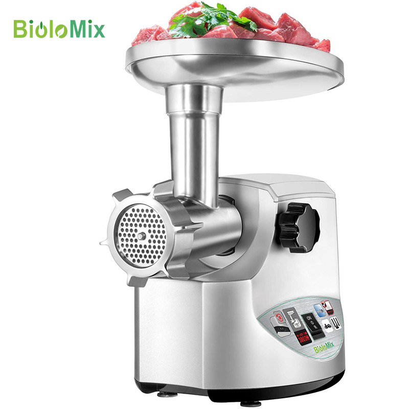 Heavy Duty 3000W Max Powerful Electric Meat Grinder Home Sausage Stuffer Meat Mincer Food Processor