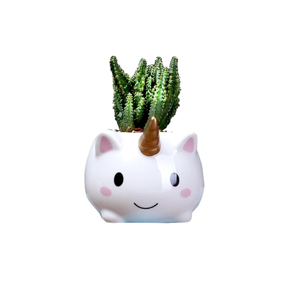 Unicorn Plant Pots, Cute Animal Shaped Cartoon Succulent Vase Flower Pots,Container,Home Decoration Planter Pots Home Decoration