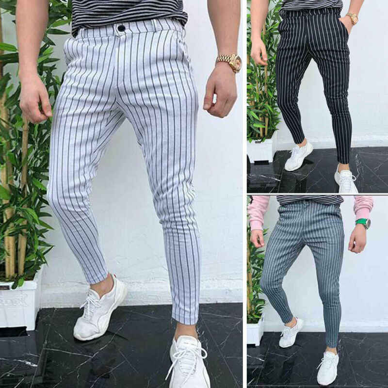 Nieuwe Trendy Fashion Heren Joggers Slim Past Casual Broek Broek Joggingbroek Gym Pak Sport Gym Skinny Office Skinny Broek