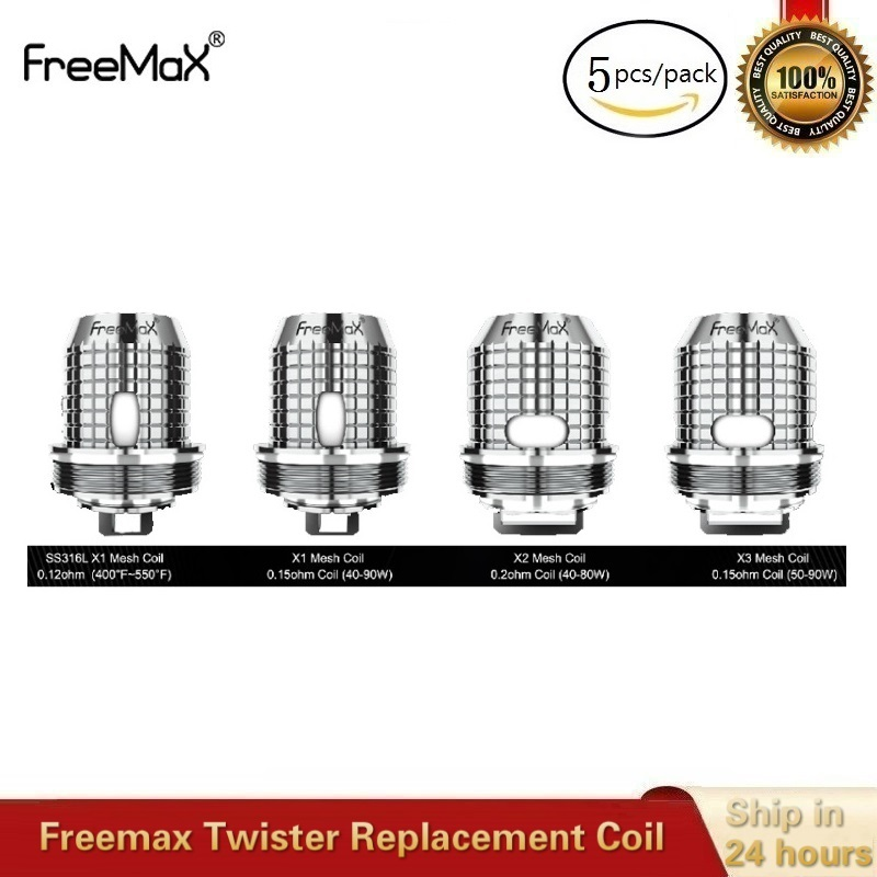 5pcs/lot Original Freemax Twister Replacement Coil S316L X1 X2 X3 Mesh TX1 NX2 TNX2 Mesh Atomizer Core For Fireluke 2 Vape Tank