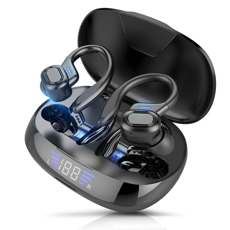 Беспроводные наушники Bluetooth V5.0, наушники, светодиодный дисплей, 2600 мАч, зарядное устройство с микрофоном, водонепроницаемые наушники с сенсорным управлением|Наушники и гарнитуры|   | АлиЭкспресс