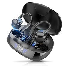 Беспроводные наушники bluetooth v50 светодиодный светодиодным