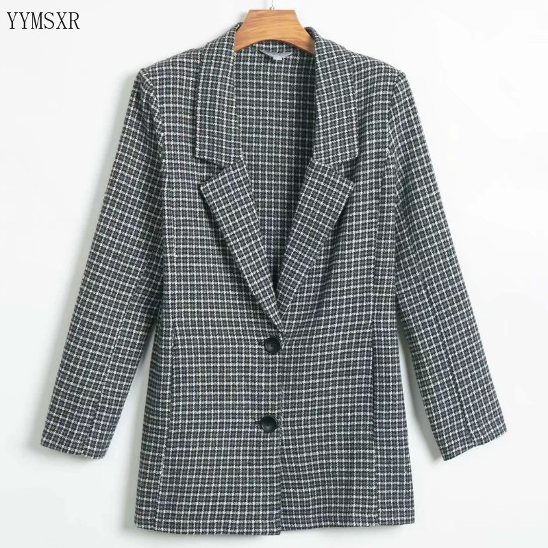 Ladies Fashion Jacket Casual Small Suit 2020 new spring and autumn slim single-breasted women's blazer Female Coat