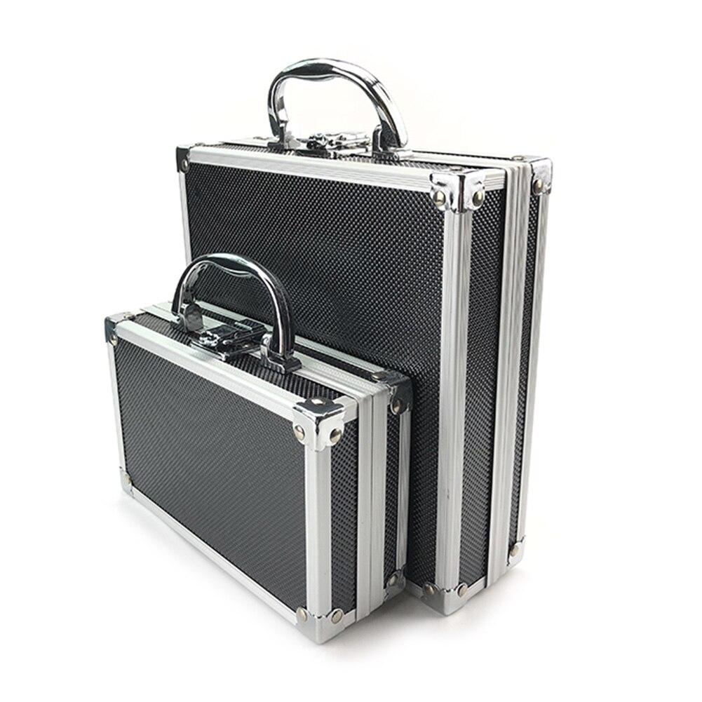 Tool Box Aluminium Alloy Toolbox Storage Case Portable Tool Case Travel Luggage Organizer Case Safety Box 20P06