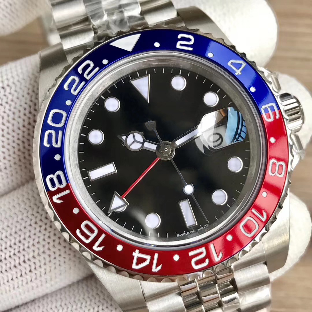 Роскошные брендовые Керамические Gmt мужские s часы черные SS Черные Мужские механические Автоматические Jubilee master Desinger часы aaa наручные часы