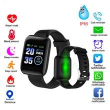 116Plus Smart Watch Fitness Tracker Heart Rate Watch Blood Pressure Pedometer Smart Watch Sleep Monitor Waterproof Smart Band