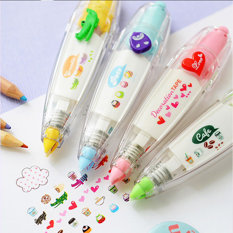 DIY Cartoon Decorative Correction Tape Cute Kawaii Flower Lace Decoration Tape for Diary Scrapbooking School Supplies 6mm*4m(China)