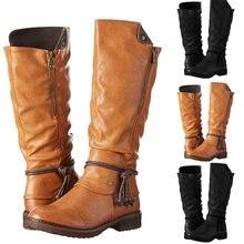 2020 г Новые Модные женские ботинки осенне зимние сапоги до