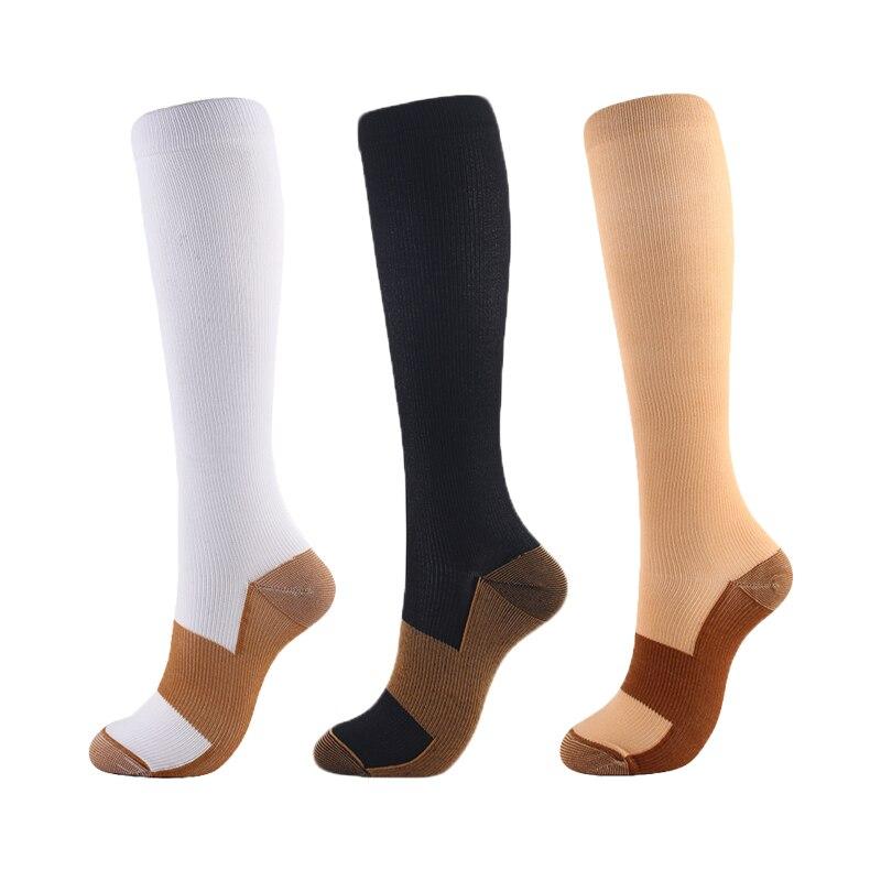 2020 yeni Unisex sıkıştırma çorap naylon büyü renk sonbahar kış varisli damarları önlemek diz yüksek destek streç 15-20mmHg