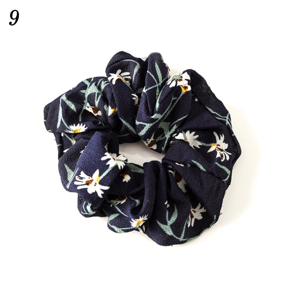 Корейский женский ободок для волос для девочек, полосатые женские резинки для волос, конский хвост, Женский держатель, веревка с ананасовым принтом, аксессуары для волос - Цвет: w9