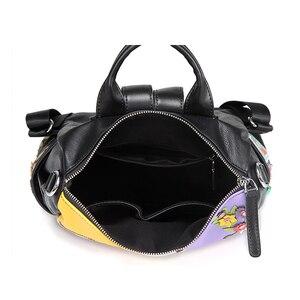 Image 5 - Ipinee mulheres mochila moda causal sacos de alta qualidade bordado feminino bolsa ombro mochilas de couro do plutônio para as mulheres