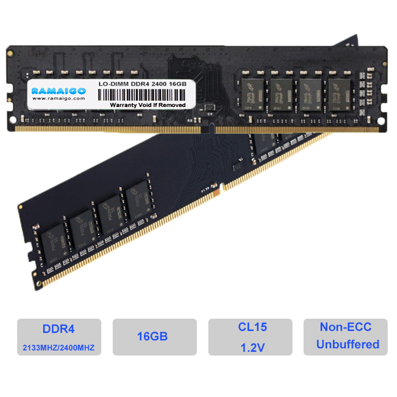 DDR4 4GB 8GB 16GB ram 2400MHz 2666MHZ PC DIMM CL19 1.2V U-DIMM PC4-19200 Non-ECC Desktop Memory for All DDR4 motherboard image