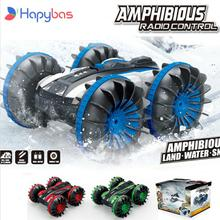 360 Rotate Rc Cars Remote Control Stunt Car 2 Sides Waterproof Driving On Water And Land Amphibious Electric Toys For Children