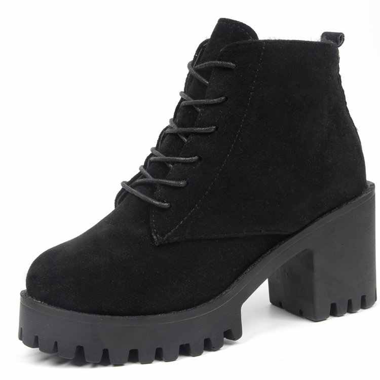 Mới Giày Bốt Martin 2018 Nữ Thu Đông Giày Cổ Điển Giữa Gót Giày Ủng Nữ Xe Máy Mắt Cá Chân Giày