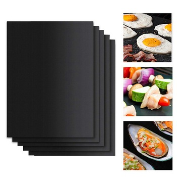 1/2/3/5PCs Barbecue Grill Mat Reusable Non-stick BBQ Cooking Baking Mats Covers Sheet Foil BBQ Liner Tool Kitchen Cooking Gadget