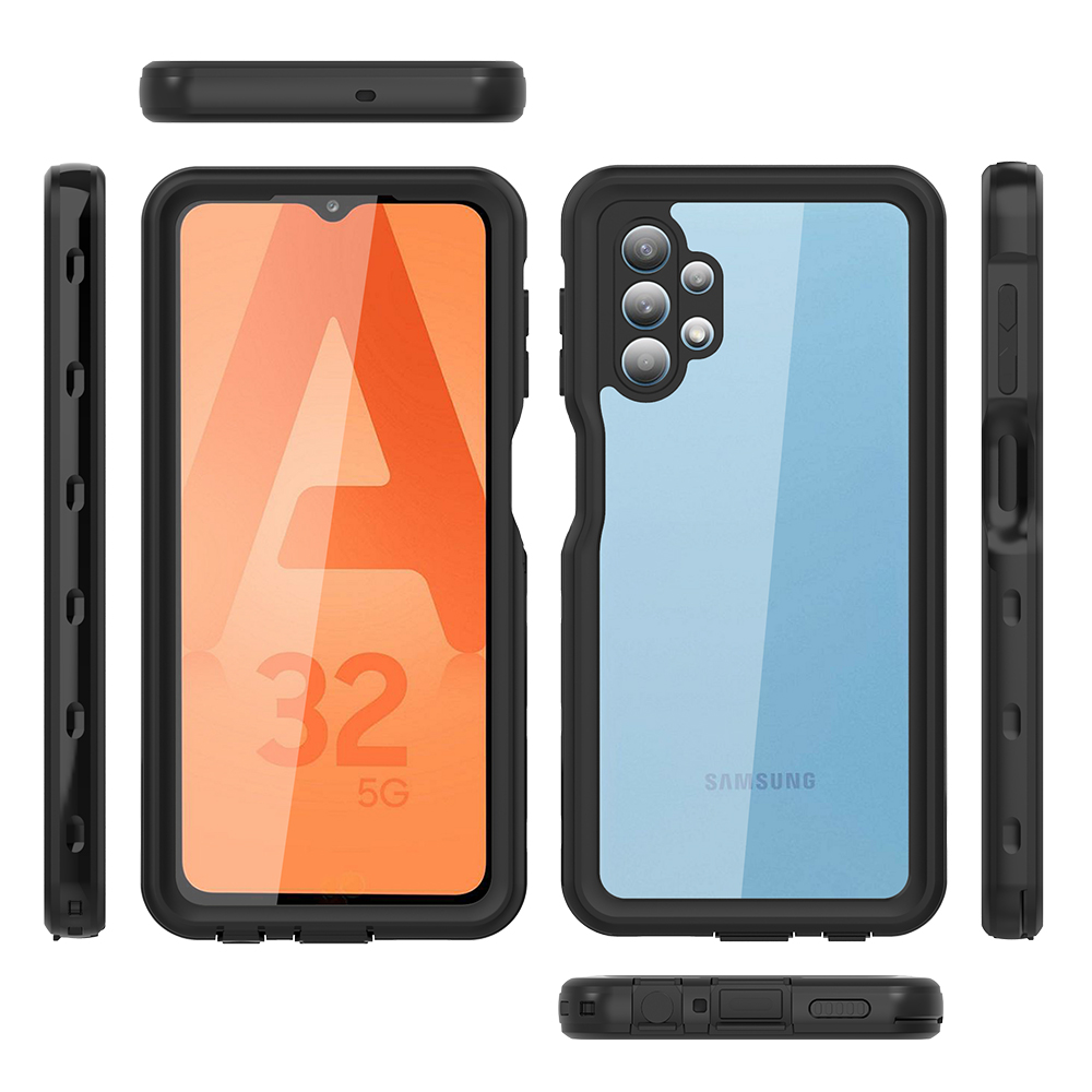 Luxury IP68 Shockproof Waterproof Bag Underwater HD Lens Camera Protection Phone Case Cover for Samsung Galaxy A32 -5G Shell