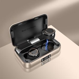 Image 2 - TWS X13 블루투스 5.0 헤드폰 소음 제거 마이크 이어폰 3500mAh 진정한 무선 이어 버드 IPX7 방수 터치 헤드셋