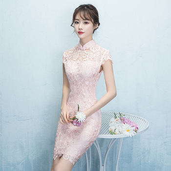 2020 chinese traditional cheongsam embroidery dress embroidered wedding red lace modern woman long qipao sexy oriental formal
