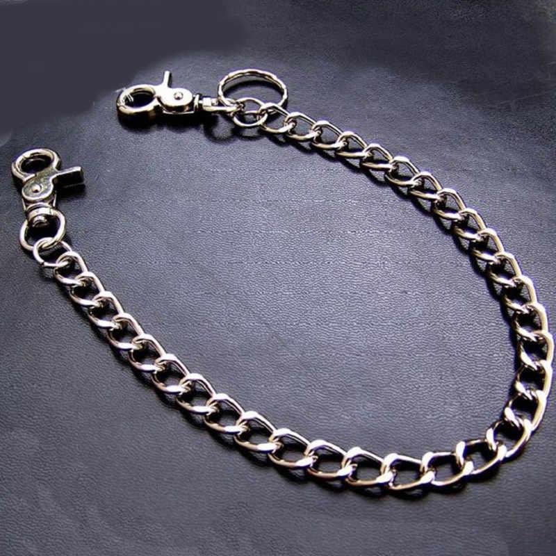 Schacht Ming Eenvoudige Sleutelhanger Trendy Punk Hip-Hop Metalen Taille Ketting Sliver Mannen Vrouwen Jeans Broek Kettingen Accessoires sieraden