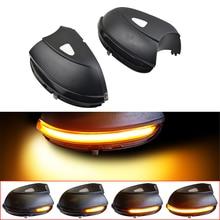 2PCS Dynamic Blinker For VW Passat B7 CC Scirocco Jetta MK6 EOS LED Turn Signal Light Side Mirror Indicator 2011 2012 2013 2014