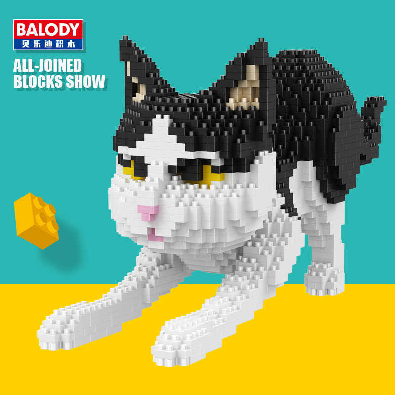 Balody 16036 Diamond Blocks building blocks bricks Toys Cat Cat Assembly For Children Juguetes legoingLYs Auction Kids Gifts