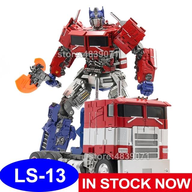 AOYI 액션 피규어 완구 LS 13 LS13 확대 OP 스타 나이트 커맨더 트럭 비공식 전기 변형 변형
