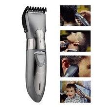 Profissional ajustável recarregável aparador de cabelo elétrico máquina de cortar cabelo para homens crianças barbeador à prova dwaterproof água 3536