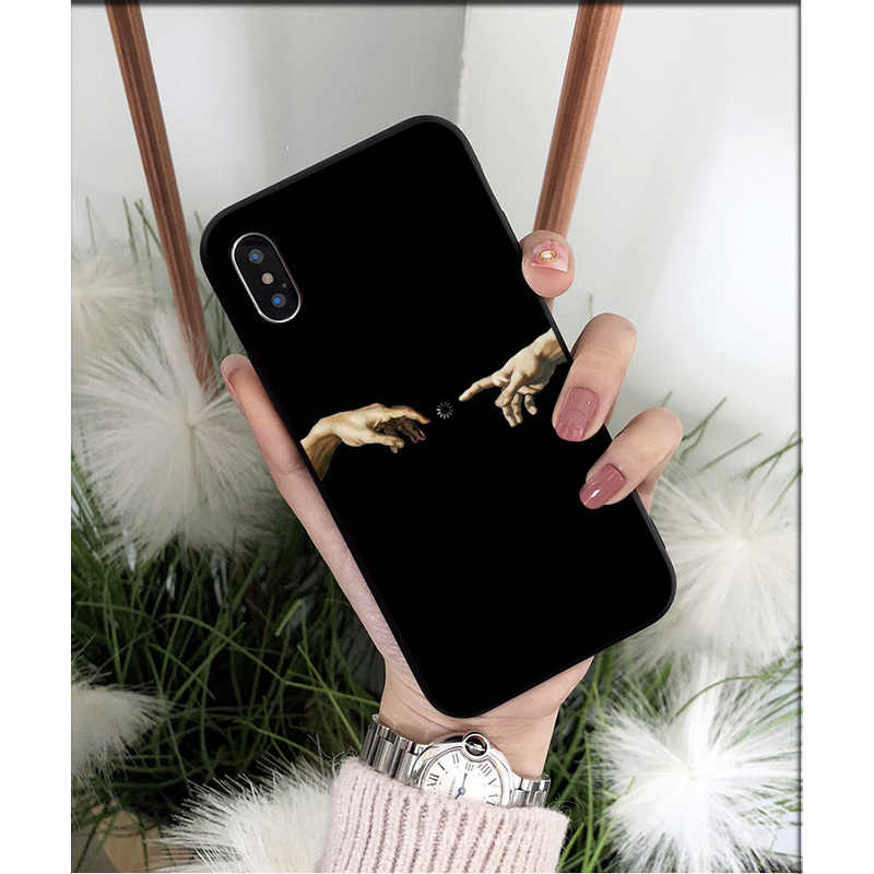 NBDRUICAI Mona Lisa Davidเส้นTPU Softโทรศัพท์มือถือสำหรับiPhone 11 Pro XSสูงสุด8 7 6 6S Plus X 5 5S SE XR