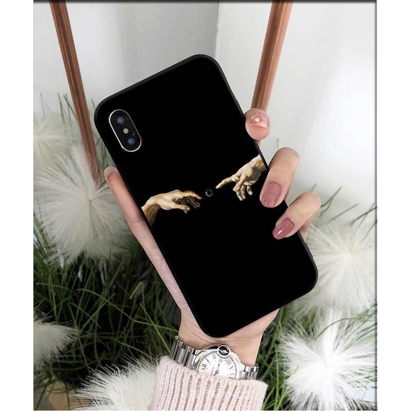 Nbdruicai Mona Lisa David Linee Tpu Molle Del Telefono Mobile Della Copertura di Caso per Il Iphone 11 Pro Xs Max 8 7 6 6S Plus X 5 5S Se Xr Caso