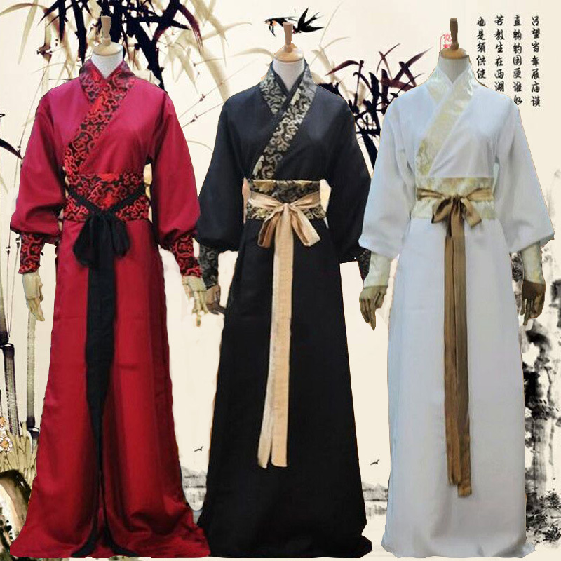 Men's Ancient Chinese Hanfu Costume Knights Scholars Traditional Outfit Adult Halloween Film Television Drama Costumes C59783AD