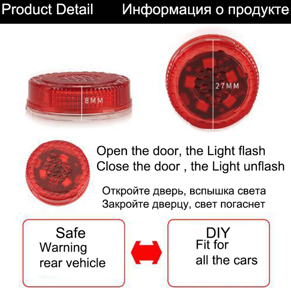 POSSBAY Warning Lights Orange rgb Flashing Opening 3 5led Signal Lamps Wireless Battery Power in Signal Lamp from Automobiles Motorcycles