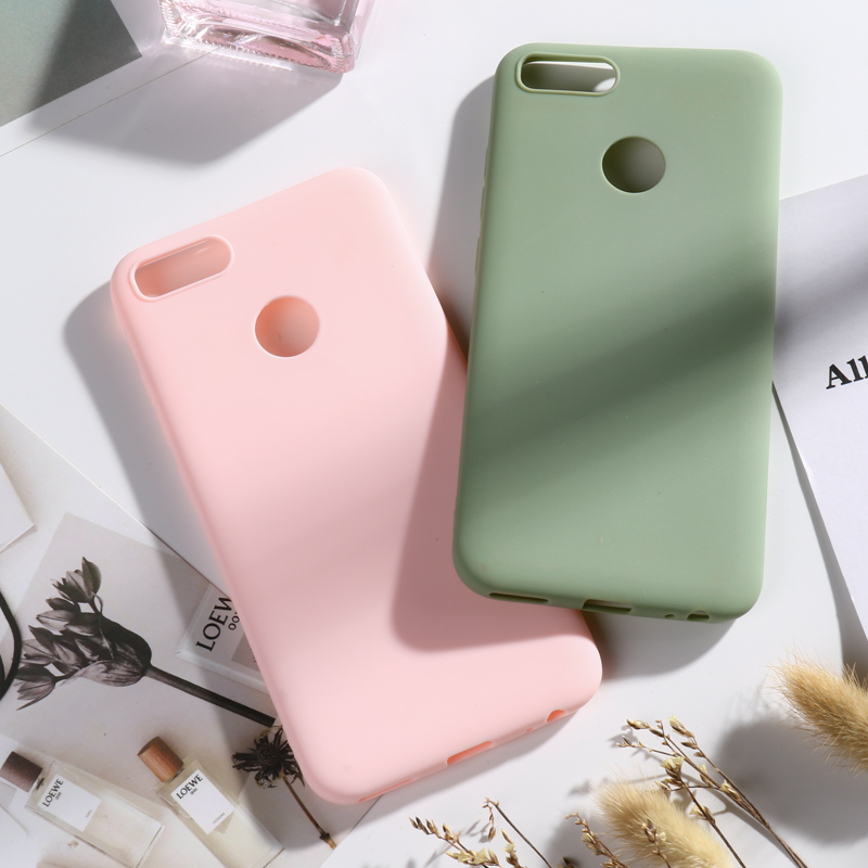 Soft Silicone Yellow Case For Xiaomi Mi A1 5X Matte Candy TPU Cover MiA1 Mi5X 5.5