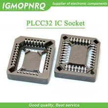10 個 PLCC32 SMD IC ソケット、 PLCC32 ソケットアダプタ、 32 ピン PLCC PLCC 32 コンバータ