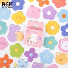 Stickers Kawaii Decorative Stationery Diary-Label Flower Scrapbooking Bear-Paper Mini