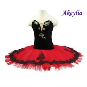 Image 1 - Rojo Negro profesional ballet tutu niñas clásico ballet tutu adultos disfraces de ballet tutu rendimiento mujeres